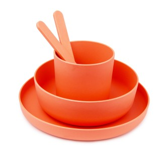 Melamine square dishes kit for 4 persons