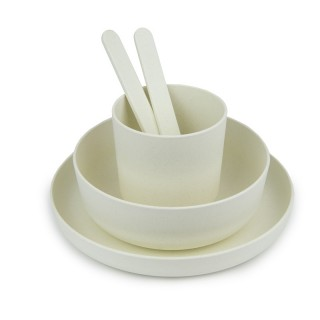 Melamine square dishes kit for 2 persons