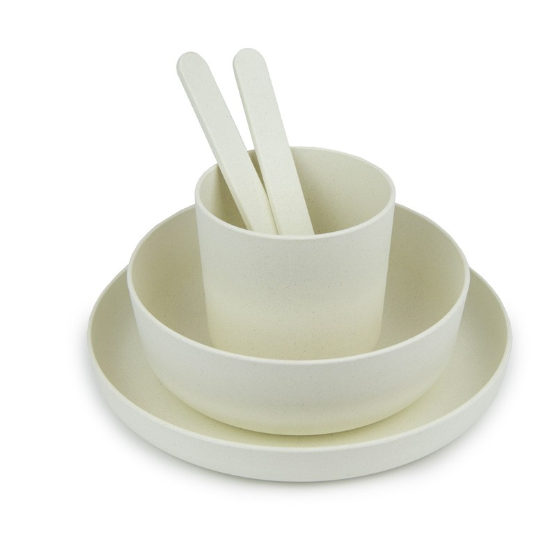 Melamine square dishes kit for 2 persons plastorex for Feuille de melamine cuisine