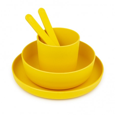 Melamine round dishes kit for 4 persons