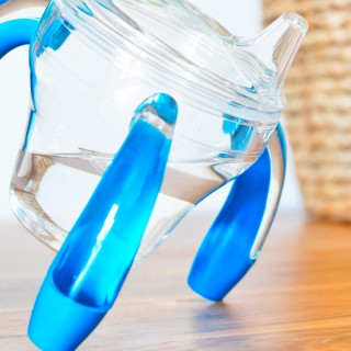 Melamine 3-compartment plate MON P'TIT COEUR blue