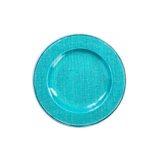 Set de 2 couverts translucide bleu / bleu (cuillère, fourchette)